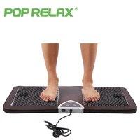 POP RELAX NUGA BEST NM55 Second Heart Tourmaline Germanium Foot Arch Acupuncture Massage Mat Electric Heating