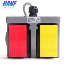Interruptor de Pie de plástico Infinity, doble Pedal, dúplex, de dos vías, autoretorno, 16A/250VAC, 1no x 2, 1 Uds.