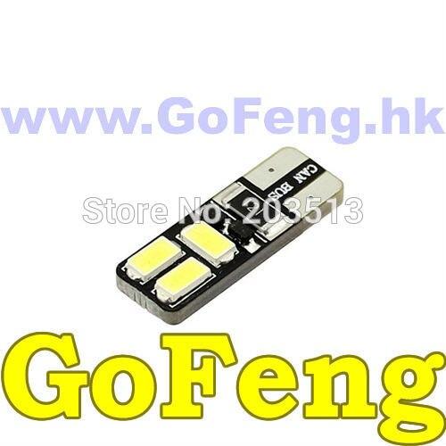 500PCS/LOT New arrival 12v car led w5w 194 T10 6 led SMD 5630 6smd canbus no error led bulb lamp light free shipping