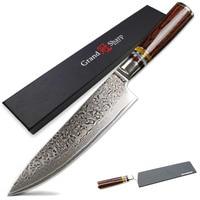 GRANDSHARP 67 Layers Japanese Damascus Steel Damascus Chef Knife VG 10 Blade Damascus Kitchen Knives Pakka Handle PRO Chef Knife
