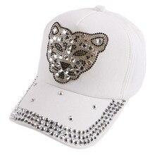 new salable children hip hop snapback novelty outdoor boy girl sports baseball cap rhinestone leopard head brand kids casquette