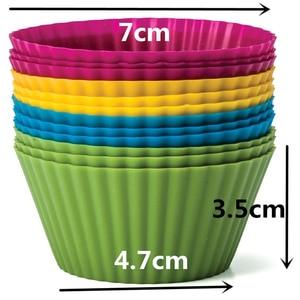 Image 2 - 12ชิ้น/เซ็ตรอบรูปซิลิโคนเค้กเบเกอรี่แม่พิมพ์เค้กแม่พิมพ์คัพเค้กซิลิโคนถ้วยทำอาหารครัวเครื่องมือสุ่มสี