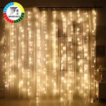 Coversage 6X3 Mt Weihnachtsgirlanden LED String Weihnachtsbeleuchtung Net Fairy Xmas Party Garten Hochzeit Dekoration Vorhang Lichter