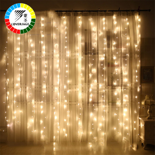 Coversage 6x3m Christmas Garlands Led String Christmas Net