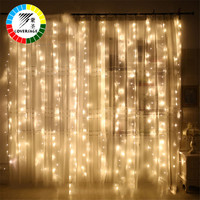 Coversage 6X3M Christmas Garlands LED String Christmas Net Lights Fairy Xmas Party Garden Wedding Decoration Curtain Lights