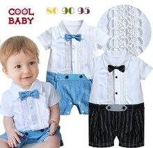 Free Shipping 3pcs/lot Baby Boy's Formal Romper