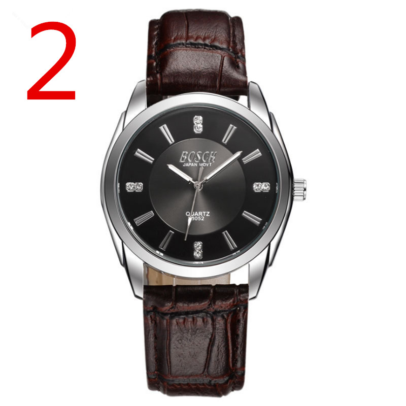 лучшая цена Double calendar watch male luminous waterproof business casual men's watch ultra-thin steel with imported movement quartz watch