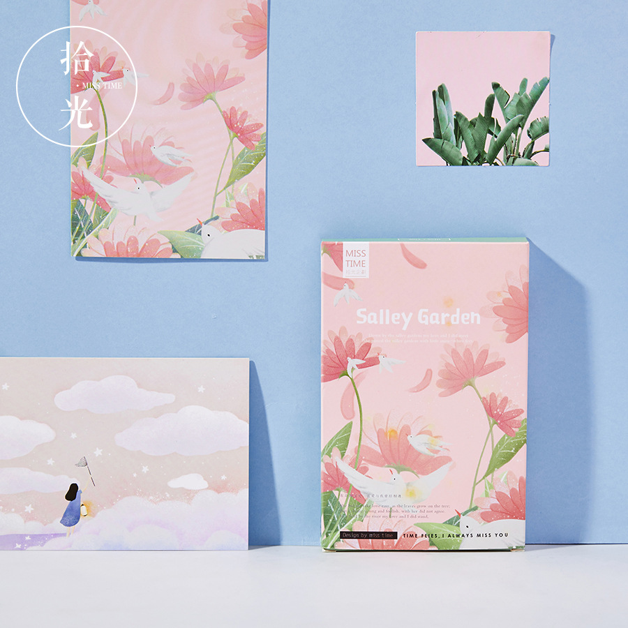 30 Sheets/Set Beautiful Salley Garden Postcard/Greeting Card/Message Card/Birthday Letter Envelope Gift Card
