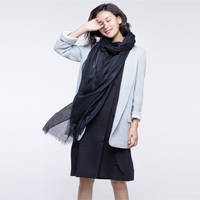 2016 Fashion Autumn Winter Brand Wool Pashmina Wool Scarf Warm Thin Multi Colors Shawl Women Soft
