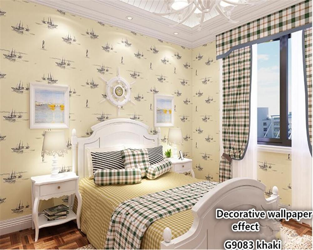 beibehang Sailboat Mediterranean Style Eco Nonwoven 3d Wallpaper ...