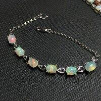 opal gemstone bracelet in 925 sterling silver fine jewelry for women as gift