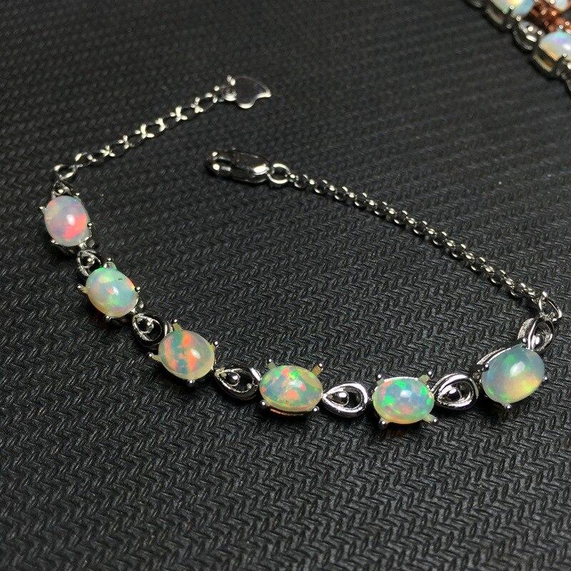 opal gemstone bracelet in 925 sterling silver fine jewelry for women as gift gorgeous faux opal bracelet for women