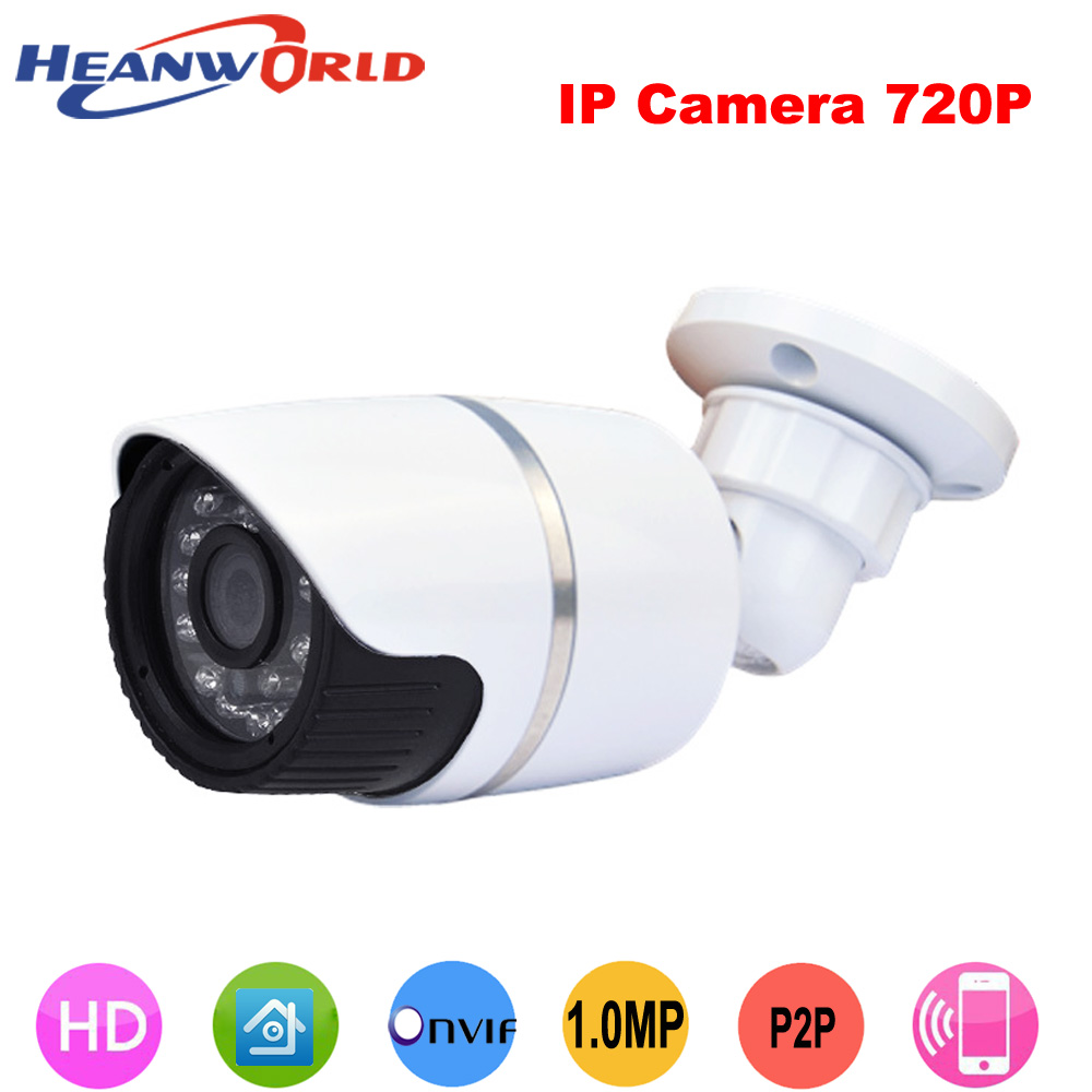 Heanworld waterproof IR bullet IP camera 720P security ip cam support P2P onvif mobile phone monitoring outdoor with bracket цена