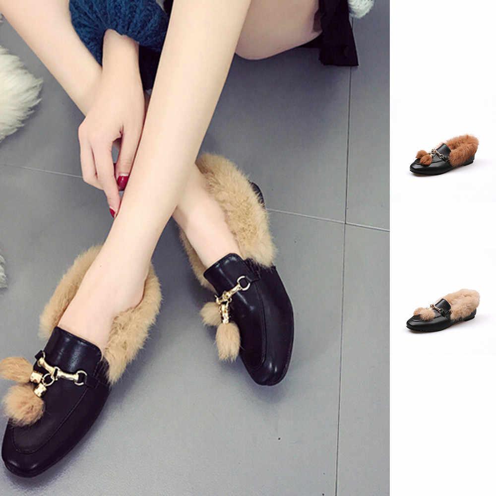 YOUYEDIAN 2019 yaz YENI Siyah Moda kadın Püskül Ayakkabı Anti-Kayma yarım çizmeler zapatos de tacon para mujer konfor # G40