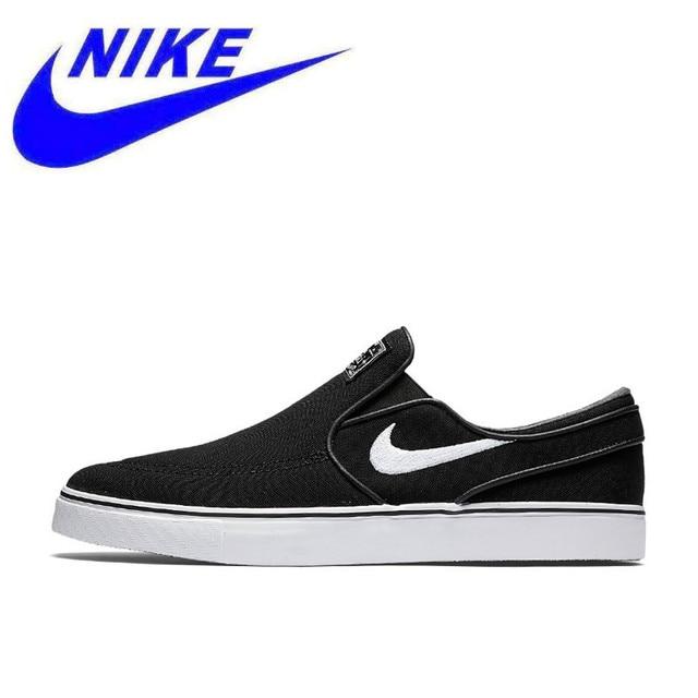 Nike SB Zoom Stefan Janoski Slip CNVS Men s and Women s Unisex Original New  Arrival Skateboarding Shoes 831749-010 8b3f386f6