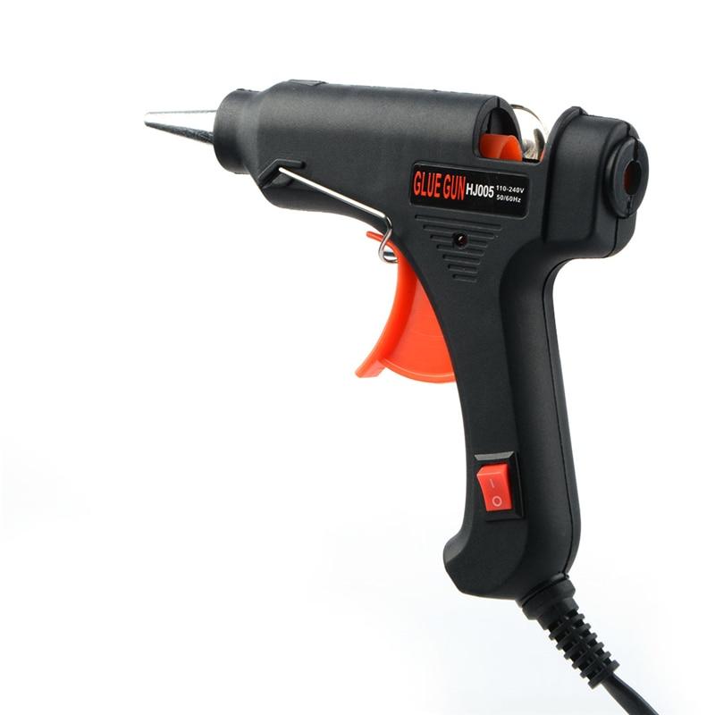 100 В-240 В EU/US Hot Plug черный расплава клеевой пистолет клей-карандаш промышленных мини Пистолеты Thermo клеевым пистолетом тепла Температура инструмент 10 Вт/20 Вт