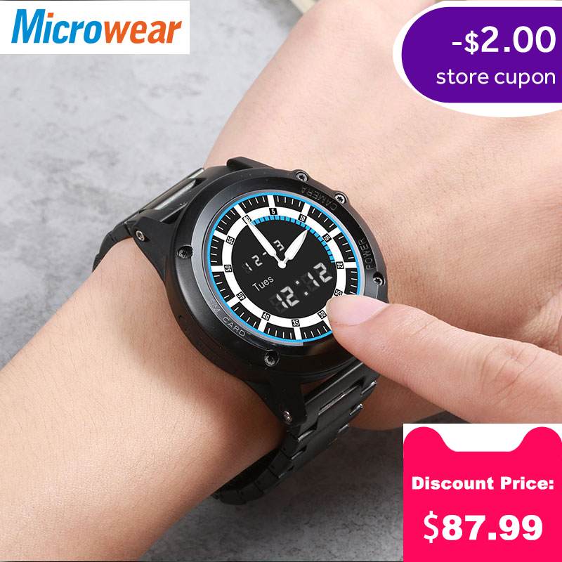 ea6c49a5e3e646 Microwear H1 Smart Watch Android 4.4 IP68 Waterproof GPS WiFi 3G MTK6576  4GB 512MB Sports Smartwatch Heartrate Bluetooth 4.0
