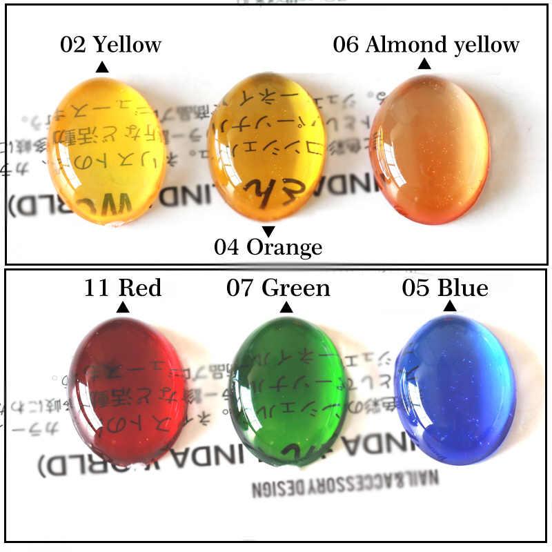 ขายร้อน 12 สีโปร่งแสง Candy สีเจลสีทาเล็บเคลือบเงา 7ml เจลเล็บเคล็ดลับศิลปะอัญมณี LED และ UV GEL