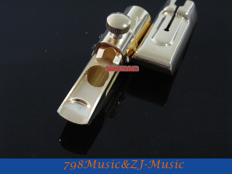 As-7 modèle 7 #-embout Saxophone Alto en métal professionnel plaqué or