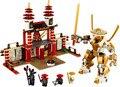DIY Образовательные Игрушки для детей КИТАЙ БРЕНД S669 самоконтрящимися кирпича Совместимость с Lego Ninjago Храм Света L70505