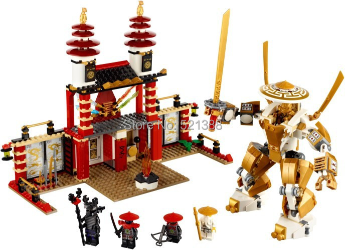DIY Educational Toys for children CHINA BRAND S669 self-locking bricks Compatible with Lego Ninjago Temple of Light L70505 china brand l0090 educational toys for children diy building blocks 00090 compatible with lego