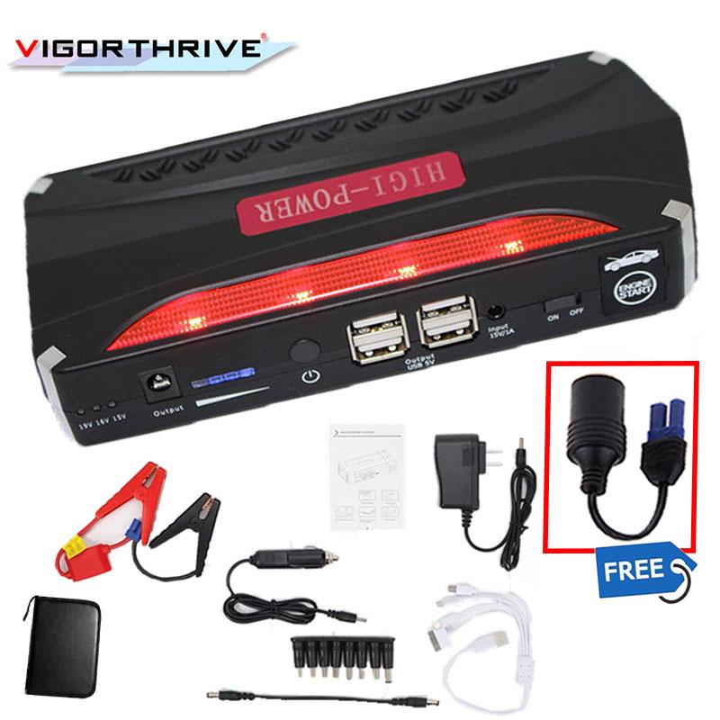 Mini chargeur de batterie chargeur de voiture chargeur de voiture chargeur de voiture 12 V Portable Power600A SOS lumière