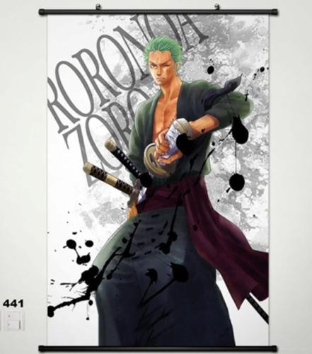 One Piece Lorenor Zorro Home Decor Anime Japanischen Poster Wall Scroll Weihnachten In