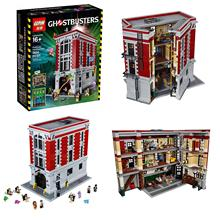 Marvel models 2016 LEPIN 16001 4695Pcs Ghostbusters Firehouse Headquarters Building Kits 15001 Minifigure Blocks Bricks 75827