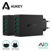 Aukey Универсальный 4 Порты USB Зарядное устройство Путешествия стены Зарядное устройство адаптер для iPhone7 Samsung S6 смартфонов/ПК/Mp3 и USB мобильных устройств