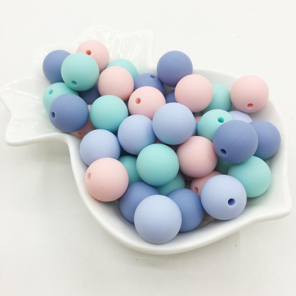 Конфеты цвета бусины для мальчиков и девочек Детские цвета прорезывания зубов шарики ребенок жевательные FDA Сейф прорезывания зубов 100 шт./л...