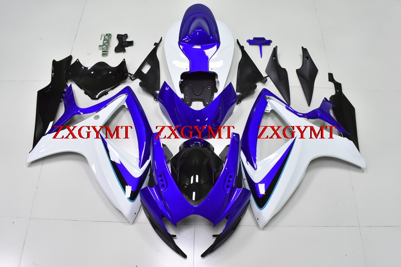 Plastic Fairings for GSX-R600 2006 - 2007 K6 Fairing GSX R 750 06 Blue White Black Motorcycle Fairing GSXR600 2006Plastic Fairings for GSX-R600 2006 - 2007 K6 Fairing GSX R 750 06 Blue White Black Motorcycle Fairing GSXR600 2006