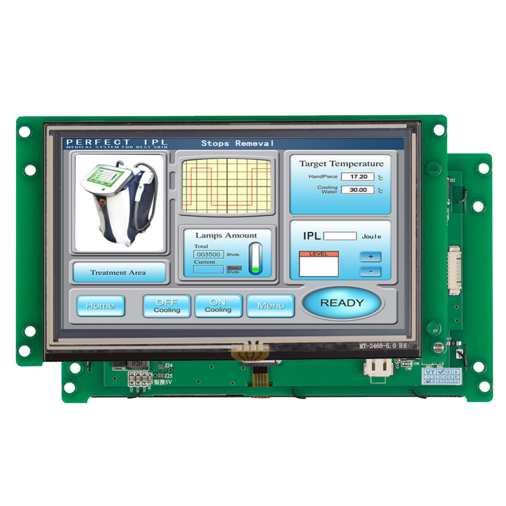 5.0 TFT LCD Module With Touch Control Panel In Automatic Control Fields