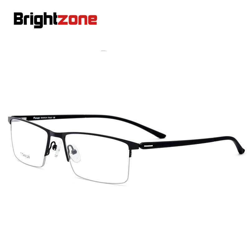 Brightzone Brand Name Metal Half Rim TR90 Light-weight Legs Spectacles Business Affairs Man Myopia Prescription Rx Glasses Frame
