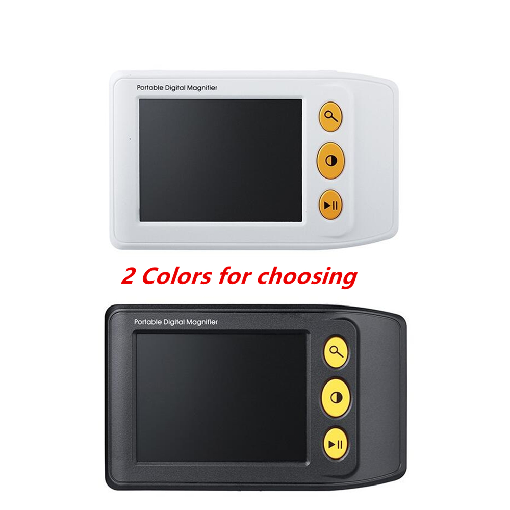 LED Illuminated 2X-25X  Low Vision Aids Reading Electronic Magnifier 3.5 Inch Screen Digital Camera TV Output Supported 2 led magnifier