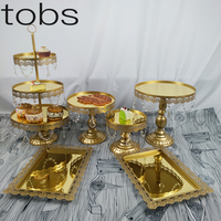 Crystal Gold Cupcake Stand Mirror 2/3 Tiers Instagram Style For Wedding Party Dessert Cake Table Decoration Cake Tools