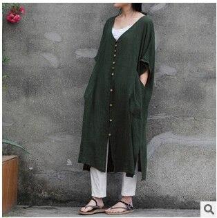 Продукт выпуска летом года, дизайн хлопок белье свободные большой ярдов женское платье - Цвет: Зеленый