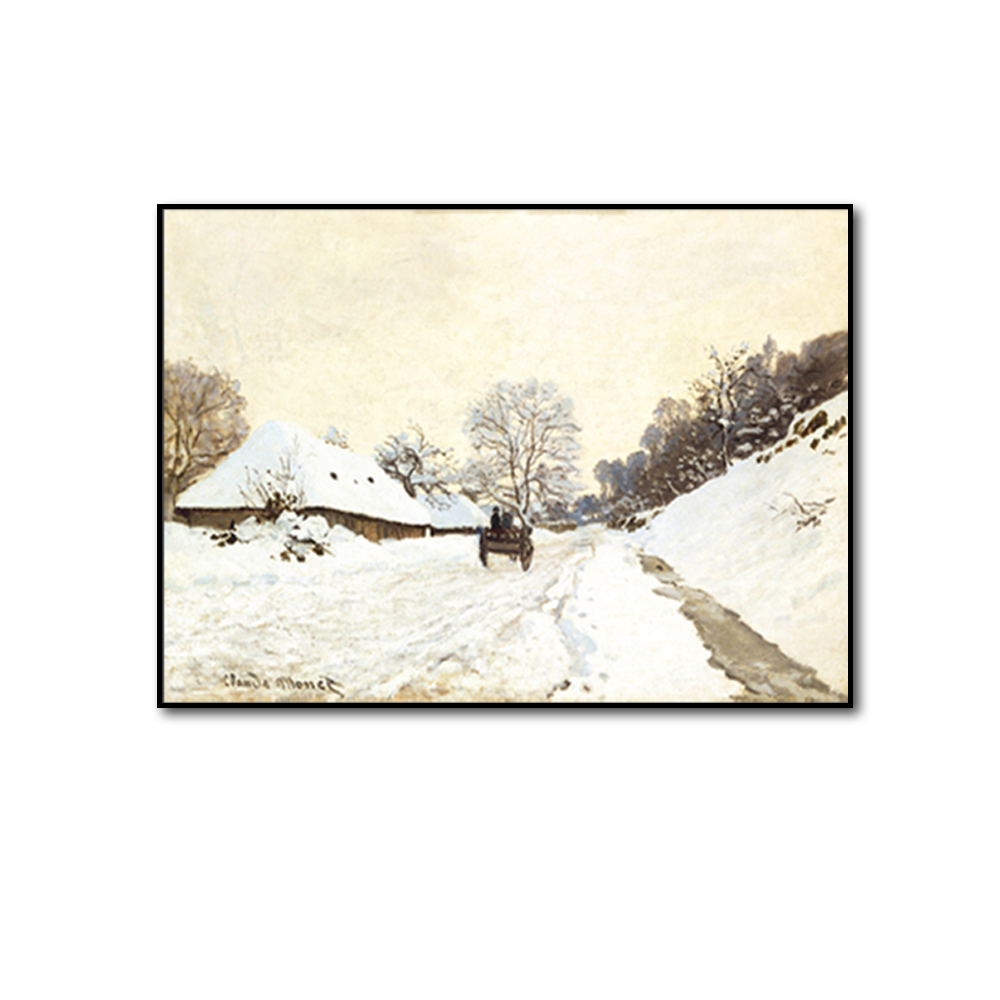 Unframed Canvas Prints Snow Rural Road Wall Art Canvas Painting Prints Wall Picture For Living Room Wall Art Decoration
