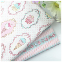 Icream Print Cotton Fabric Patchwork Tissue For Diy Needlework Sewing Craft Tilda Baby the Cloth Cushion Home Textile Material(China)