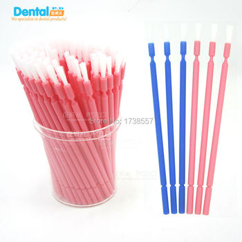 New arrival 400pcs Dental Disposable Micro Applicator Brush Bendable Regular small brush applicator stick teeth  whitening недорого