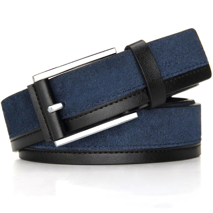 f447e84cb9fc Mode en cuir véritable hommes ceinture avec boucle ardillon en daim en cuir  designer ceintures hommes de haute qualité pour décorer jeans livraison  gratuite