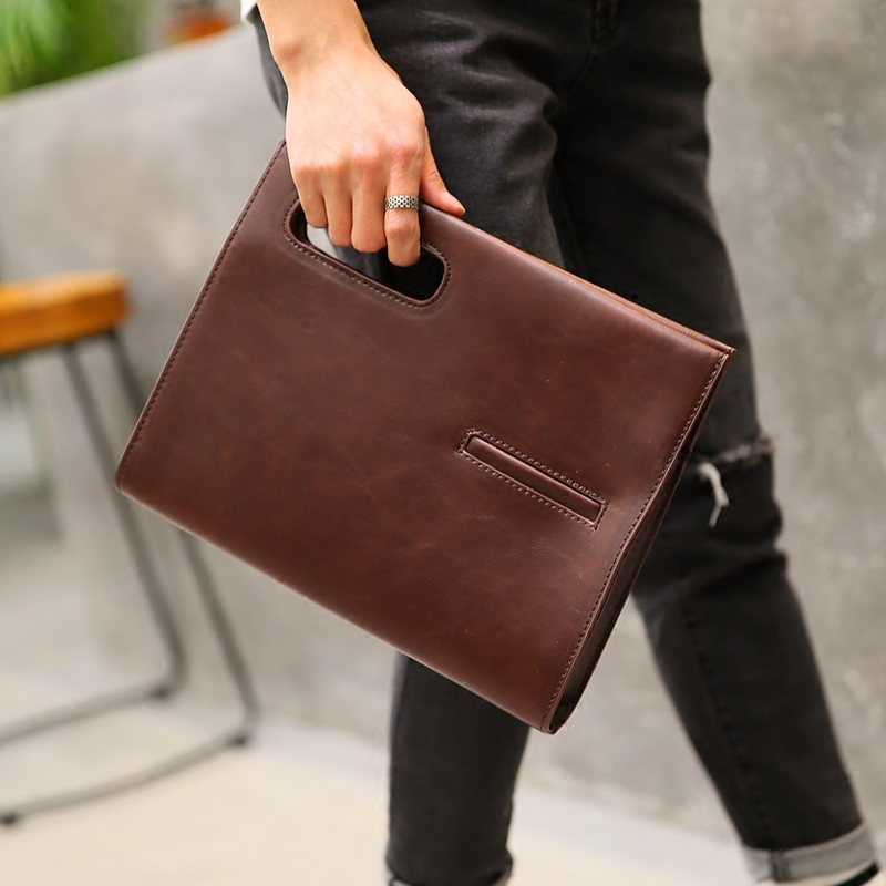 Tidog New men's handbag retro bag shoulder bag business bag briefcase tidog the new nylon tote bag vertical sportswear men s business satchel handbag