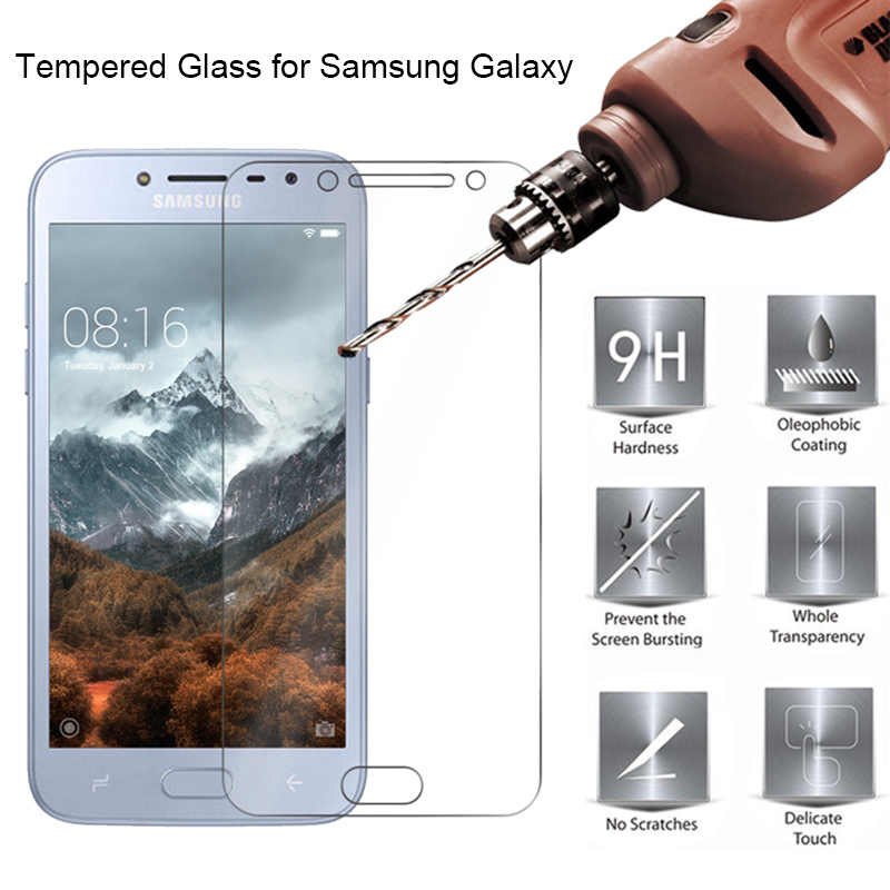 Tempered Glass Protective Glass for Samsung J8 J7 J6 J4 Plus J3 9H HD Toughed Screen Protector on Galaxy Note 7 5 4 3 2