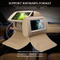 2 stücke 9 zoll Kopfstütze DVD-Player Auto Rear Seat Media Player mit FM/IR/USB/SD (MP5)/Wireless Game/Reißverschluss abdeckung