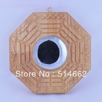 fengshui 8 Inch PeachWood Concave Bagua Mirrors /Pakua /Pa kua/Peach Wood Bagua Mirrors/Bagua Mirrors/