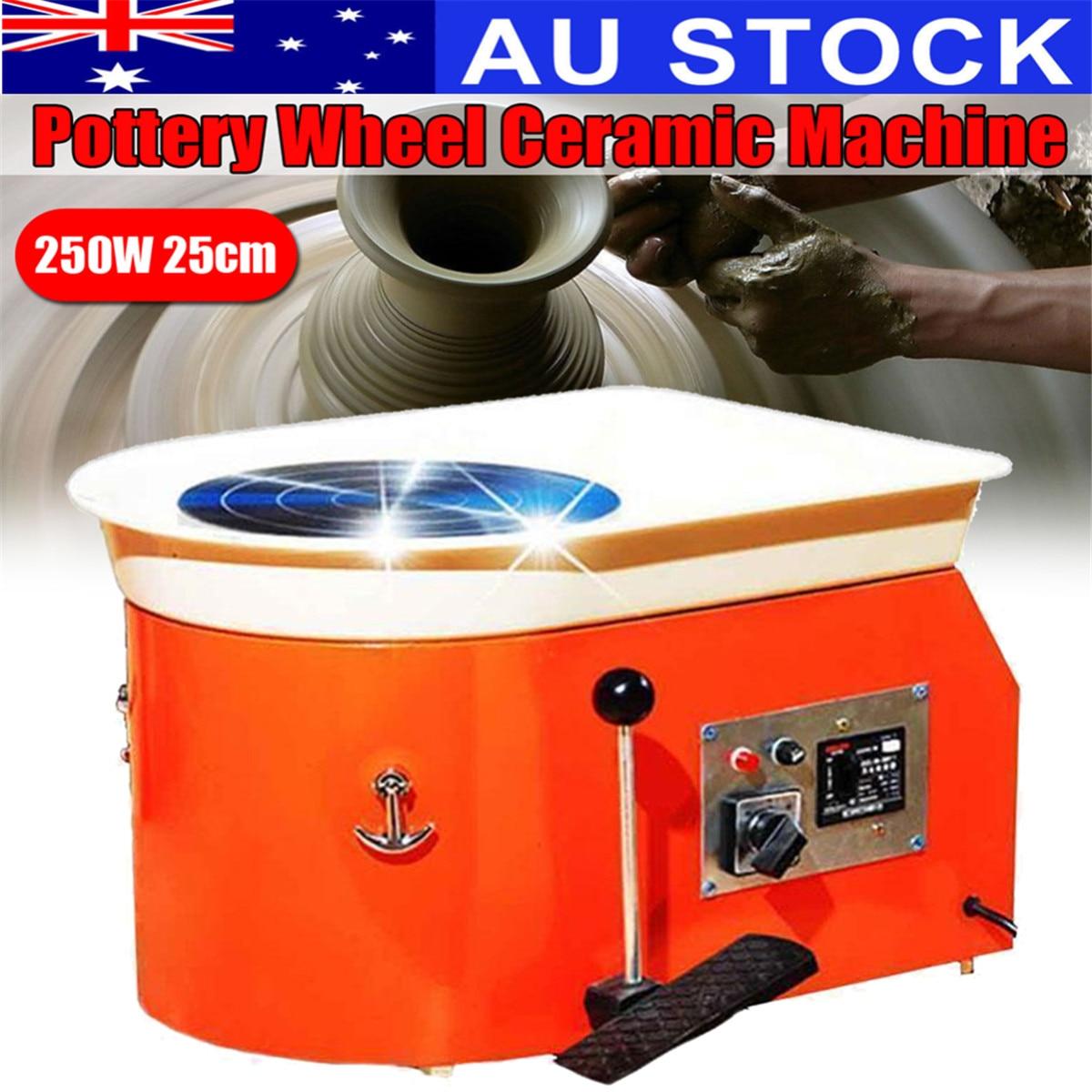 220 V 250 W poterie roue en céramique Machine pédale en céramique argile Art moule pour céramique travail navire de AU