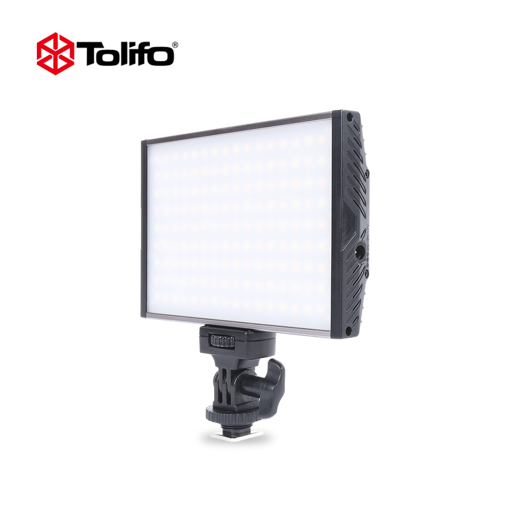 Tolifo PT-15B Light Weight  Ultra Thin Alum Alloy Construction Bi-color 3200K-5600K LED Video Light for Camera and Camcorder