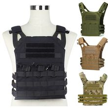 JPC Hunting Tactical Vest MOLLE Plate Carrier Airsoft Paintball CS Outdoor Protective Gear Military Equipment Black Green