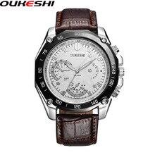 OUKESHI Hommes Montres Top Marque De Luxe Célèbre Montre-Bracelet D'affaires Mâle Horloge Quartz Montre Relogio Masculino