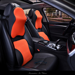 High Quality 3D Space Memory Foam Car Neck Pillow Head restraint in the car Headrest pillow automobile Auto neck pillow leather