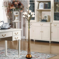 Phube Lighting Rural Style Floor Lamp Light LED Floor Lamp Light With Beautiful Lily Lamp Shade